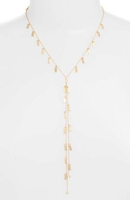 Ettika Bar Chain Lariat Necklace