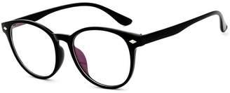 clear D.King Womens Vintage Round Glasses Frame Inspired Horned Rim Lens Circle Eyeglasses