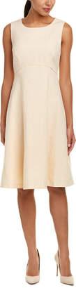 Lafayette 148 New York Shawn Linen-Blend A-Line Dress