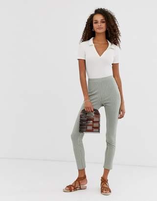 Asos Design DESIGN gingham jacquard skinny trouser