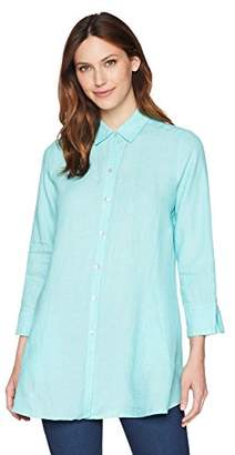 Foxcroft Women's Cici Solid Chambray Linen Tunic