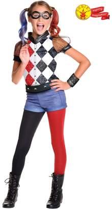 Rubie's Costume Co Girls Deluxe Harley Quinn Fancy Dress Costume - Red