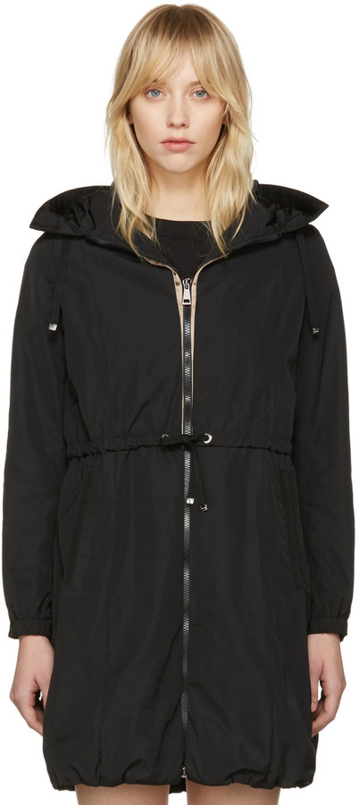 Moncler Moncler Black Tuile Hooded Coat