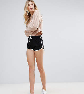 Asos Tall DESIGN Tall Basic Runner Shorts With Contrast Binding