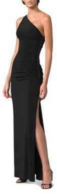 Laundry by Shelli Segal One-Shoulder Matte Jersey Dress $270 thestylecure.com
