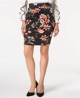 Alfani Petite Printed Pull-On Skirt, Created for Macy's