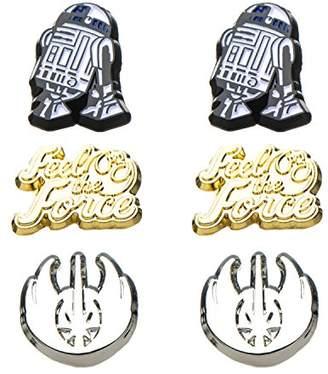 Star Wars Jewelry Unisex Adult Episode 8 Jedi Steel Post Stud Earrings Set