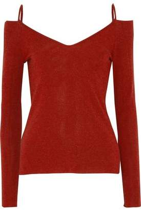 Bailey 44 Cold-Shoulder Knitted Top