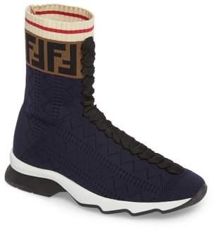 Fendi Rockoko Logo Sock Sneaker