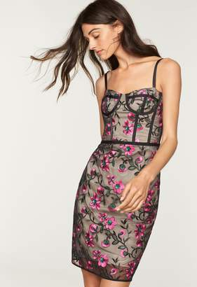 Milly Floral Embroidery Bustier Dress