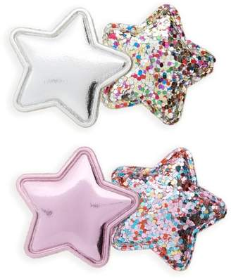 Cara 2-Pack Glitter Star Hair Clips