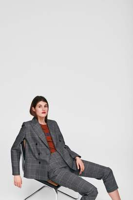 Tara Jarmon Heather Plaid Blazer