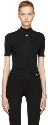 Courreges Black Mock Neck Pullover