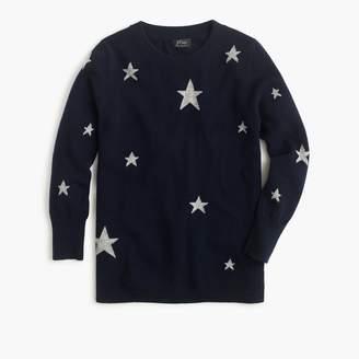 J.Crew Everyday cashmere crewneck sweater with intarsia-knit stars