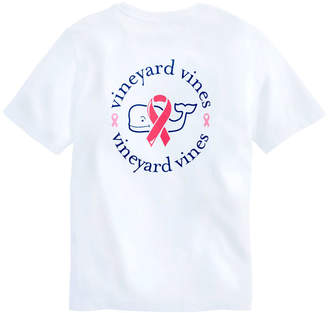 Vineyard Vines Boys Short-Sleeve Breast Cancer Awareness Logo Pocket T-Shirt