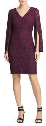 Donna Karan Split-Sleeve Lace Dress