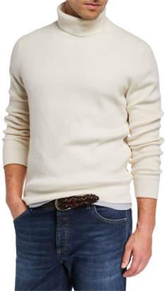 Brunello Cucinelli Men's Solid Cashmere Turtleneck Sweater