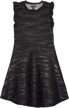 Ava & Yelly Swirl Foil Texture Skater Dress