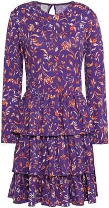 Baum und Pferdgarten Tiered Floral-print Stretch-jersey Mini Dress
