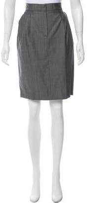 Max Mara Wool-Blend Knee-Length Skirt