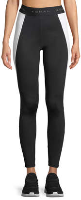 Koral Activewear Blunt Side-Panel Full-Length Leggings