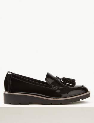 bf744007cd9 M S CollectionMarks and Spencer Wide Fit Leather Tassel Loafers