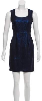 Zac Posen Z Spoke by Raw-Edge Trim Mini Dress