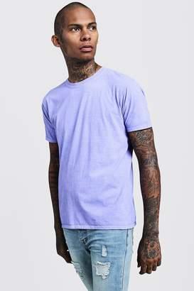 boohoo Purple Overdyed Crew Neck T-Shirt