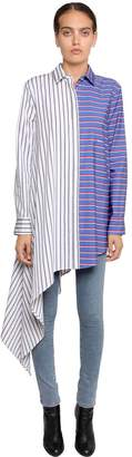 Off-White O.f.f. Striped Asymmetrical Poplin Shirt