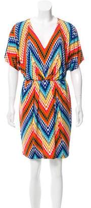 Trina Turk Geometric Print Mini Dress