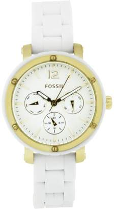 Fossil Women's BQ9405 Silicone Analog with Dial Watch