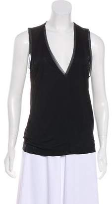 Barbara Bui Sleeveless V-Neck Top