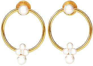 Oscar de la Renta Faux pearl hoop earrings
