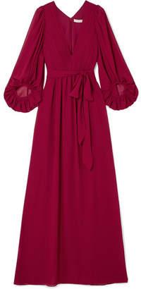 Halston Fortuny Plissé-chiffon Gown