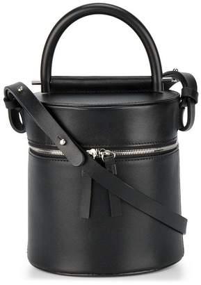 Building Block Black Drum Leather shoulder bag