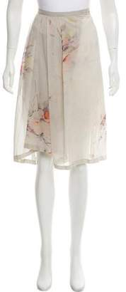 Dries Van Noten Silk Knee-Length Skirt