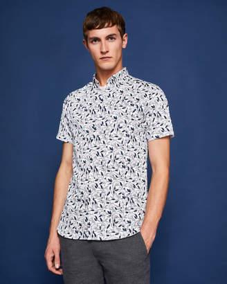 Ted Baker SAQUILI Floral print cotton shirt