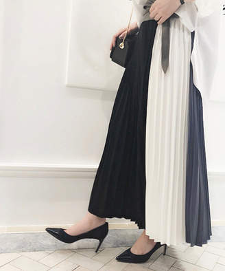 Loungedress (ラウンジドレス) - ラウンジドレス 切替プリーツスカート