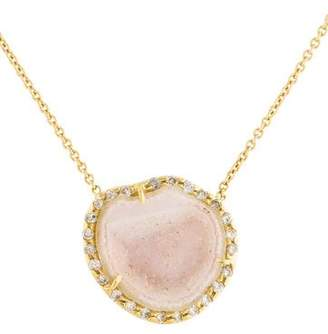 Kimberly McDonald 18K Geode & Diamond Pendant Necklace