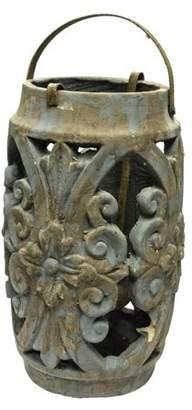 Sagebrook Home Lantern Candle Holder - Blue
