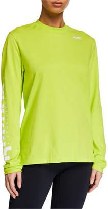 Reebok x Victoria Beckham Long-Sleeve Cotton Logo Tee