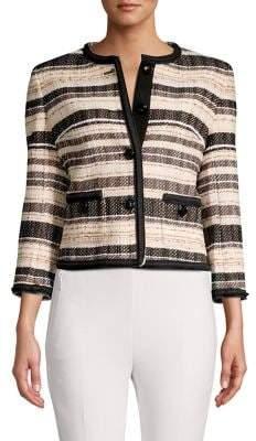 Anne Klein Striped Tweed Blazer
