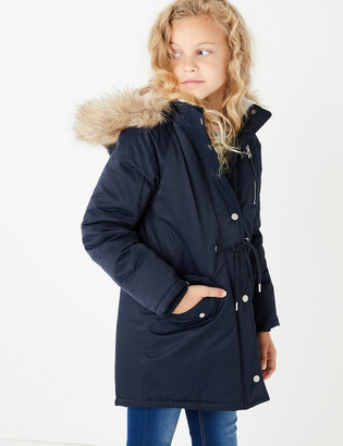 Marks and Spencer Stormwear Hooded Faux Fur Trim Parka (3-16 Years)
