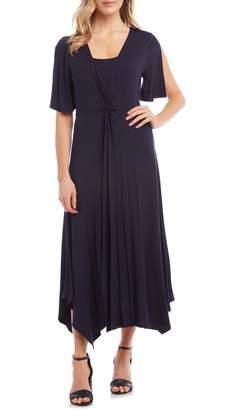 Karen Kane Asymmetrical Twist Front Dress