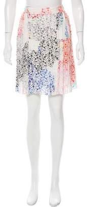 Tanya Taylor Silk Floral Print Skirt