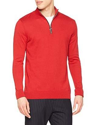 New Look Men's Half Zip 6080101 Jumper,(Manufacturer Size:54)