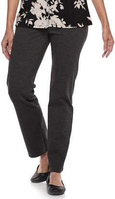 Dana Buchman Women's Slimming Straight-Leg Pull-On Ponte Pants