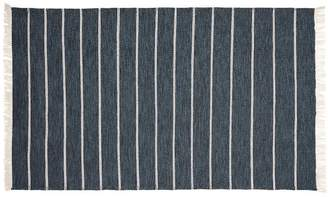 Pottery Barn Colin Synthetic Stripe Rug - Blue Multi
