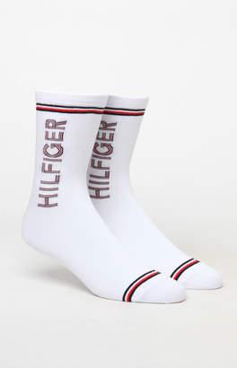 Tommy Hilfiger Logo Stripe Crew Sock 2-Pack