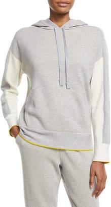Loro Piana Drawstring-Hood Colorblock Cashmere Sweatshirt